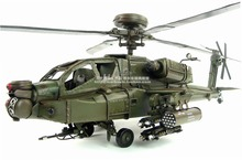 Brand New Plane Model Toys Boeing AH-64 Apache Helicopter Gunships Handmade Metal Model Toy For Collection/Gift/Decoration(China (Mainland))