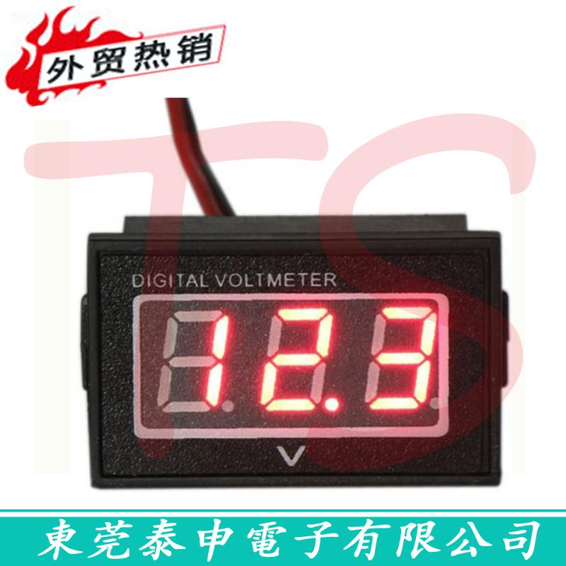 Фотография Waterproof digital voltage meter 24V 36V 48v/60V electric voltage meter electric voltage meter