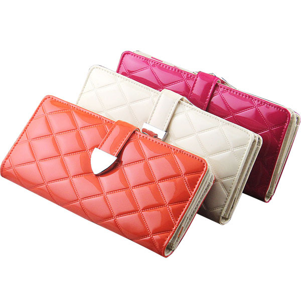 New 2014 Famous Brand Desigual Wallet Casual Women wallets High quality Plaid Patent leather clutch purses Long Card Holder(China (Mainland))