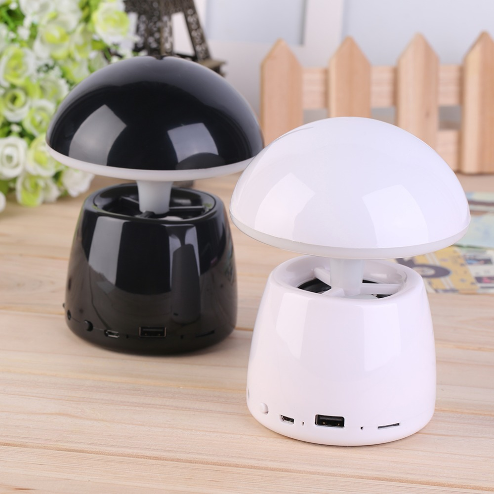 Mini Speaker Portable Wireless Bluetooth Touch Sensor Clap Sound Mushroom LED Decorative Light For Mobile Phone PC Tablet(China (Mainland))