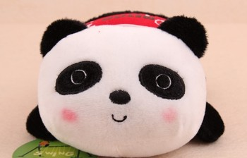 2PCS Kawaii Plush Stuffed Toy DOLL ; Panda DOLL Mobile Cell Phone Holder Case Car Stand Holders Pouch Bag ; Phone Rack Pouch