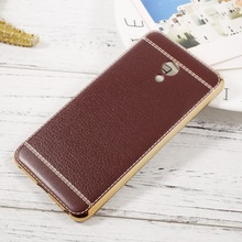 Buy fundas coque capa Meizu M5 Lychee Grain Leather Coated Electroplated TPU Phone case Cover Coffee for $2.98 in AliExpress store