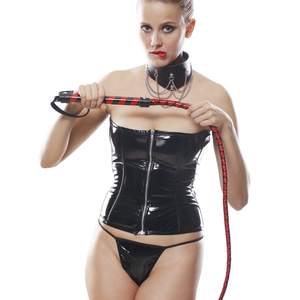 Punk queen body shaping split set knout collar
