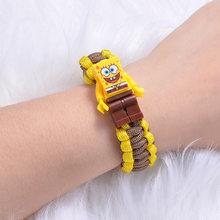 Disney anime brinquedo história 4 marvel buzz lightyear pulseira blocos de construção figura ação brinquedo woody spiderman pulseira presente do miúdo brinquedos(China)