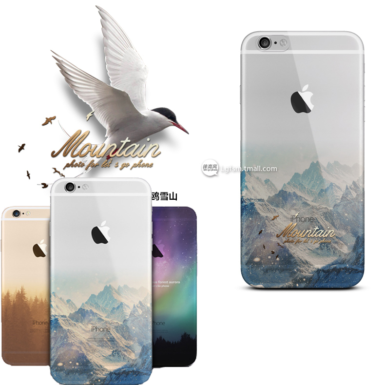 Beautiful City Mountain Ocean Transparent Case Cover For Apple iPhone 6 Case 4.7 TPU 6 Series Luxury Crystal Soft Case For Phone(China (Mainland))