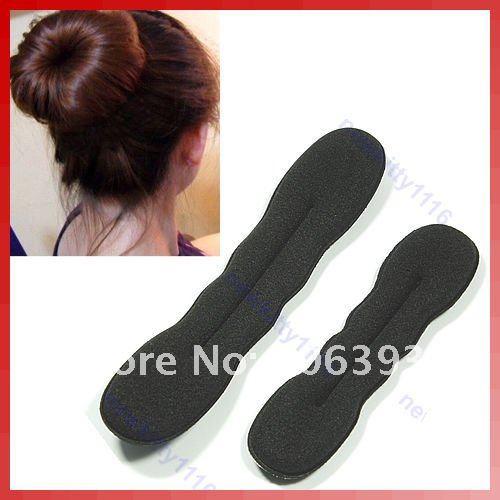 C18 2pcs L+S Magic Sponge Hair Styling Bun Maker Twist Tool(China (Mainland))
