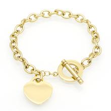 Hot Luxury Famous Brand Love Bracelet New Style Women Bracelet 18k Gold Chain T Heart Bracelets Bangles Pulseira Fine Jewelry(China (Mainland))