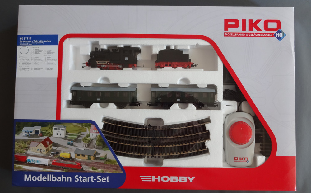 Germany PIKO 57110 junior suite * steam coal front + card + two passenger cars + track controller(China (Mainland))