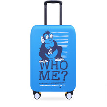 Elastic Luggage Covers Washable Suitcase Dustproof Waterproof Protector 18/20/21/22/24/26/28/30/32′ WHO ME Monkey Design