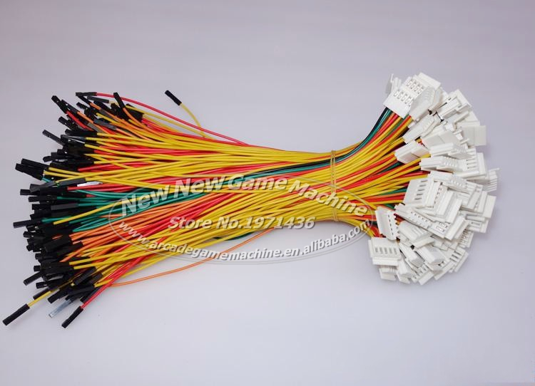 45pcs/pack Joystick Wire Original Cable For Sanwa Joystick/Wire Connections/Jamma Up Down Left Right Control Connecting Cable<br><br>Aliexpress