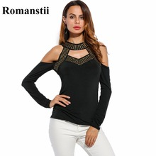 Buy Casual Harajuku Ulzzang Cold Shoulder Long Sleeve Hipster Women T-shirt Top Punk Rock T shirt Clothing Clothes Tee Femme 2016 for $10.16 in AliExpress store