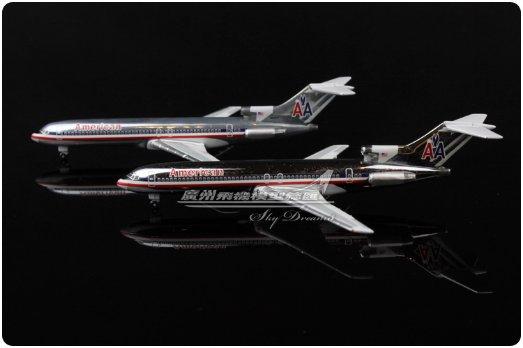 2PCS 9.5cm 1:500 American AA Airlines Plane Model Boeing B727 200 N864AA Airplane Model Souvenir Collections Gift Free Shipping(China (Mainland))