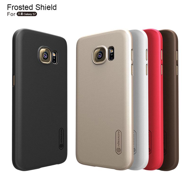 30pcs/lot For Galaxy S7 Original Nillkin Super Shield Shell Case For Samsung Galaxy S7 G9300 G930 Cover + screen Flim