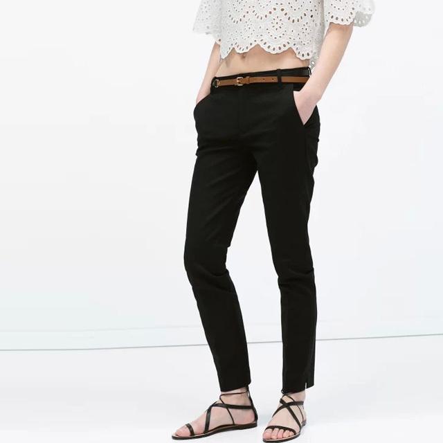 2016 весной новые женщины с хлопок брюки свободного покроя джокер брюки с поясами ...
