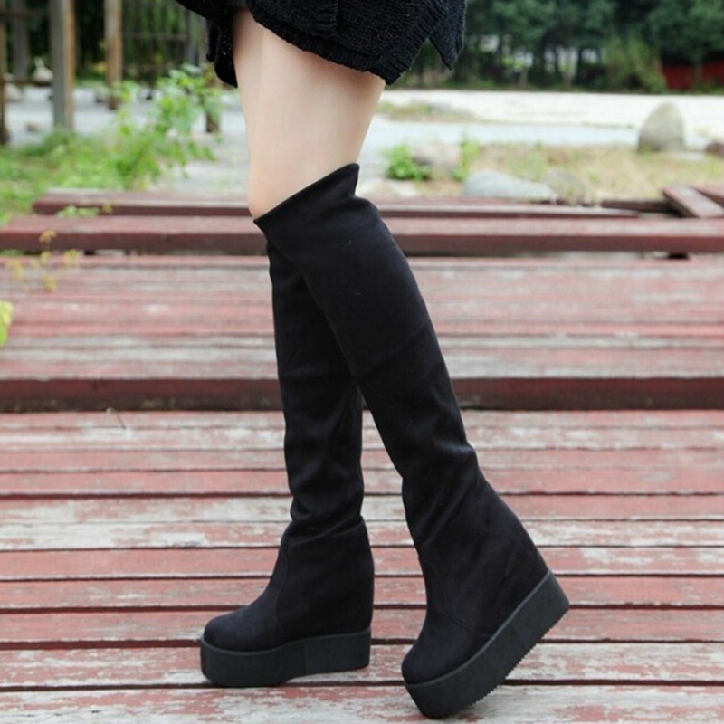 Гаджет  New fashion 2014 women knee high boots winter fashion warm boots shoes women free shipping None Обувь