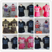 Signature WOMEN PINK Love New York Giants ladies 10 Eli Manning 13 Odell Beckham Jr. 80 Victor Cruz Embroidery Logos camouflage(China (Mainland))