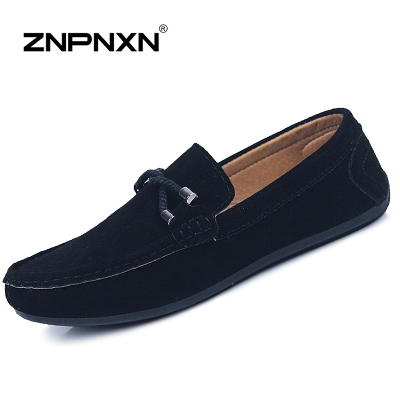 Hot Sale Mens Shoes Casual PU Leather Mens Loafers Slip On Flats Shoes For Men Mocassins Shoes Black Flats 2015