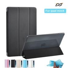 For iPad mini 4 Case Xinysan PU Leather and Soft Silicone TPU Back Smart Cover Safe Shockproof Case for iPad mini 4+Film+Stylus(China (Mainland))