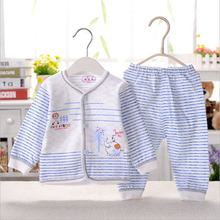 ultra-soft Baby rendering clothing Full cotton causal undershirts long-sleeved causal set clothing causal sleepwear sets ET10(China (Mainland))