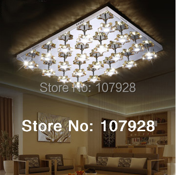 Free Shipping New Modern Luxury LED Hotel Crystal Ceiling lamps Sitting room  stainless steel rectangle square light LM83017C<br><br>Aliexpress