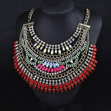 New fashion statement necklace alloy multi-layer necklaces exaggeration necklace female jewelry collier femme pendants