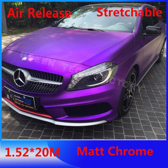 Pearlecent Matte Chrome vinyl Membranes Matte Chrome vinyl Car Film Car Metallic wrap Changing Color(China (Mainland))