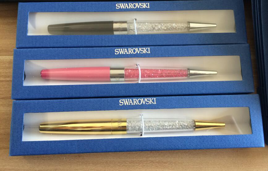 2016 swarovski Crystal pen with retail box case swarovski Ballpoint pen caneta office school stationery gift stylo roller Pen(China (Mainland))