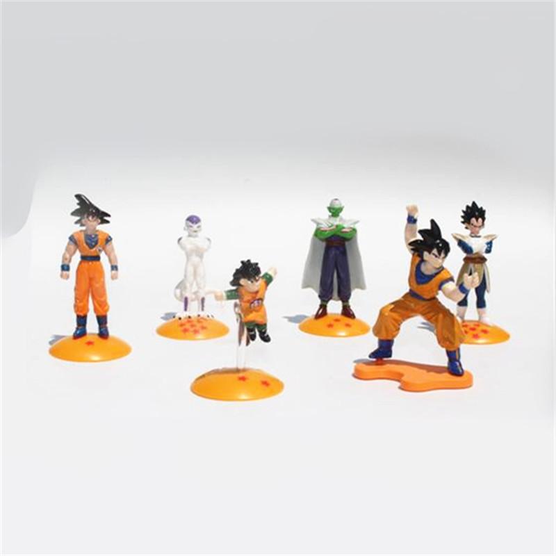 Random one piece 4-6cm japanese anime dragon ball z goku action figures assemable pvc figurine model kids Educational toys(China (Mainland))