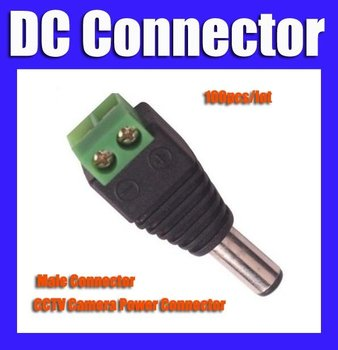 CCTV DC Male Plug DC Jack DC Connector Power Plug for Security CCTV Camera System 2.1 x 5.5mm
