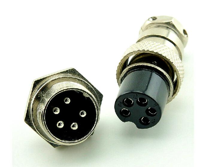 10 sets/kit 5 PIN 16mm GX16-5 Screw Aviation Connector Plug The aviation plug Cable connector Regular plug and socket(China (Mainland))