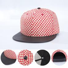 2016 Fashion Straw Plaid Hat Male Female Hip-Hop Cap Duck Tongue Hat Baseball Cap Flat Along Hat(China (Mainland))