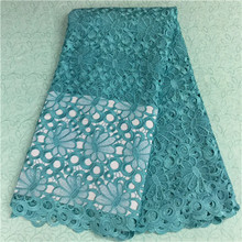 AN-1715 African guipure lace fabric wedding party dress,print Lace Full width polyester light 5y/lot - JY textile store