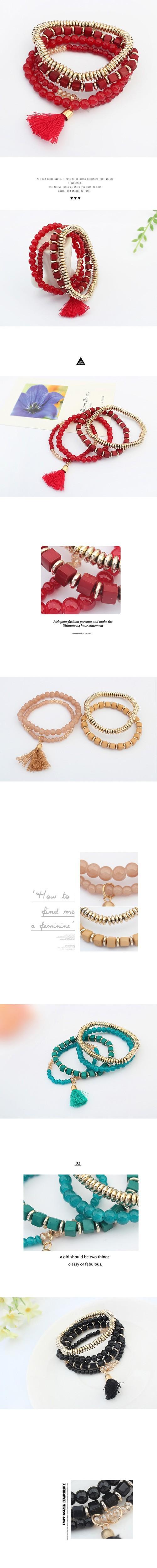 Новинка персонализированные чешские этническом стиле многослойные бисером кисточкой эластичный браслеты cuir украшения для женщин мужчин