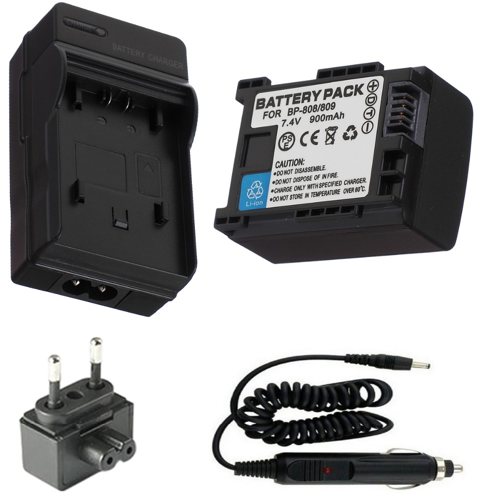 BP 808 809 Battery Charger for Canon VIXIA HF G10 G20 M30 M31 M32 M40 M41