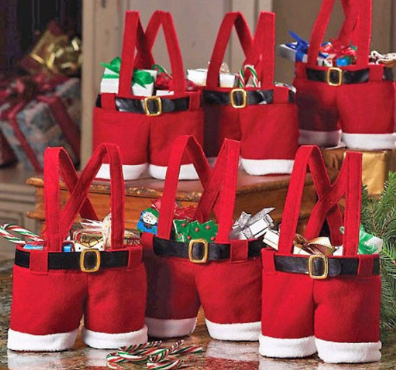 unids para rboles de navidad santa pants regalo y tratar bolsas para el caramelo