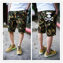 Spring and summer skull male Camouflage shorts 100% cotton frock casual straight beach