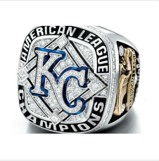 Hot New sell 2015 MLB Kansas City Royals American League Championship Ring, Custom Championship Rings, Personalized Jewelry(China (Mainland))