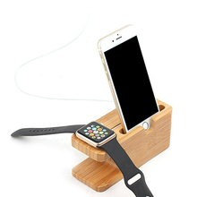 For Apple Watch Mobile Phone Watch Charging Base Bracket Combo Rack Wooden Bracelet Noble Temperament