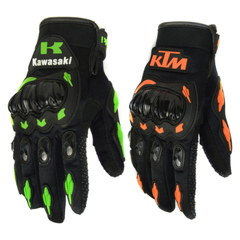 Fashion New Full Finger Motorcycle Gloves Motocross Luvas Guantes Green Orange Moto Protective Gears Glove For Men Free Shipping