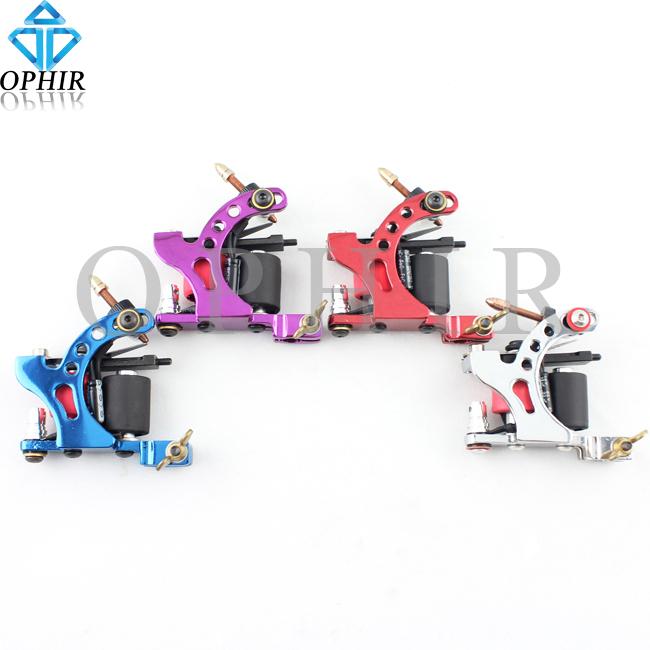 OPHIR 4pcs Pro Silver Liner Tattoo Guns Dragonfly Rotary Tattoo Machine 8 Wrap Coil Shader Liner #TA018B-E(China (Mainland))