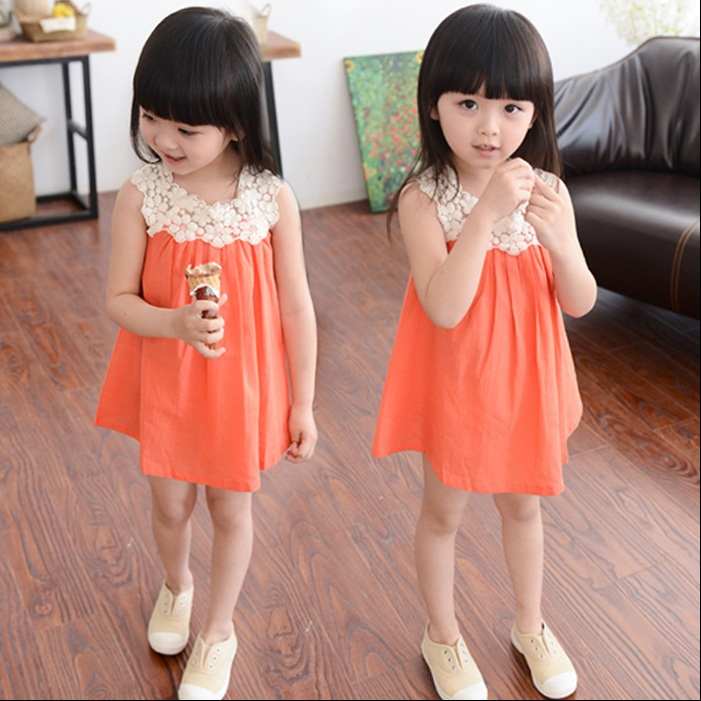 2015 new summer style girl dress kids clothes vestidos baby infantis frozen party dresses for girls minnie children clothing(China (Mainland))