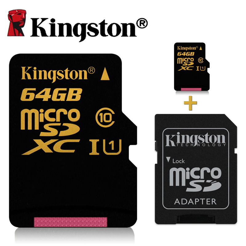 buy kingston micro sd card 64gb class 10 micro sd 32gb 16gb high speeds to. Black Bedroom Furniture Sets. Home Design Ideas
