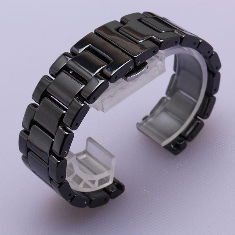 Ремешки для наручных часов 14 мм 16 мм 18 мм 19 мм 20 мм 22 мм Высокое Качество Керамической Ремешок белый черный Бриллиант часы подходят новый Человек часы Браслет