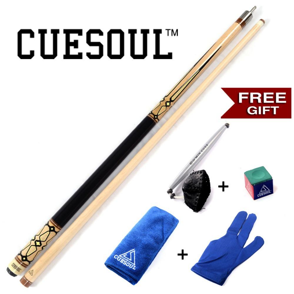 CUESOUL CSPC004G Billiard Cue With 13mm Cue Tips,Free Cue Towel+Billiard Gloves+Chalk Pen+Billiard Chalk(China (Mainland))