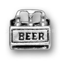Antique Silver Plating Summer Food Charms Alloy Beer Charms 50pcs AAC010(China (Mainland))