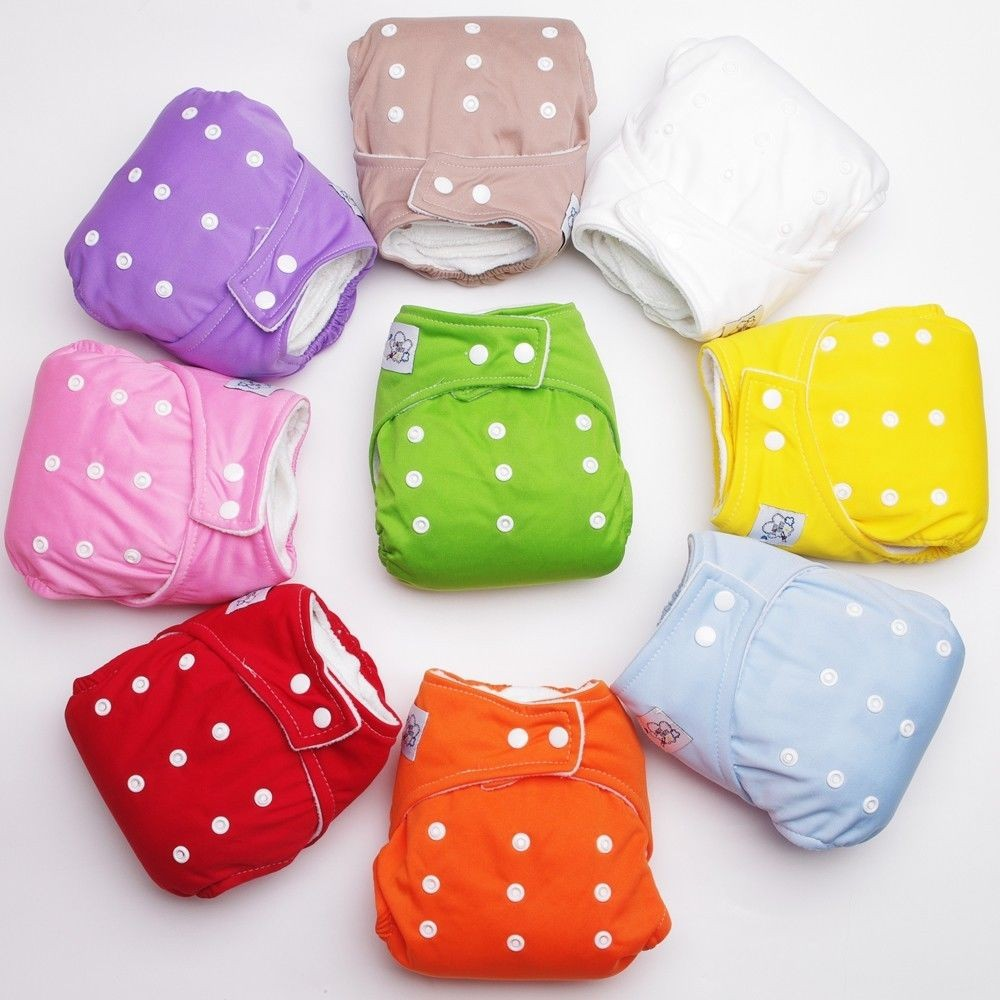 1 X Adjustable Reusable Baby Infant Nappy Cloth Diapers Fraldas Soft Covers Washable Size Winter/ Summer - ^_^ Enjoy store