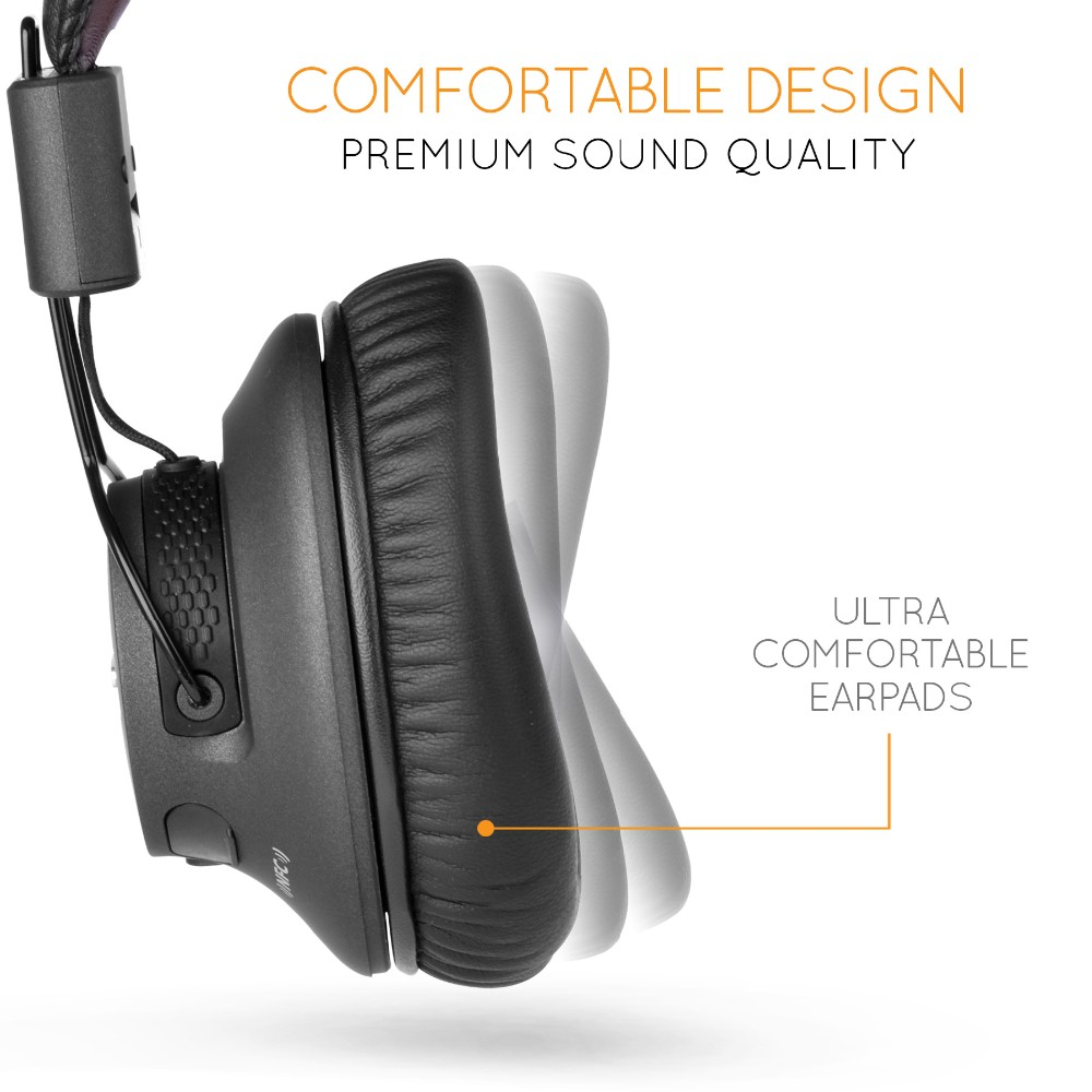 Avantree Audition Pro Wireless Bluetooth Over Ear Headphones LOW LATENCY with fast audio aptX Headset for Gaming TV PC
