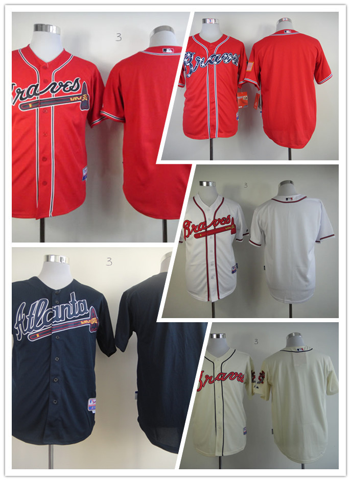 Official!! Unique Atlanta Braves Men's Jerseys Blank Baseball Jerseys Stitched,Embroidery logos,Free Shipping,100% Value Prices(China (Mainland))