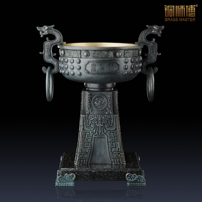 High Grade Antique Imitation Home Decoration Chinese Brass Copper Cornucopia Furnishing Articles Business Gift