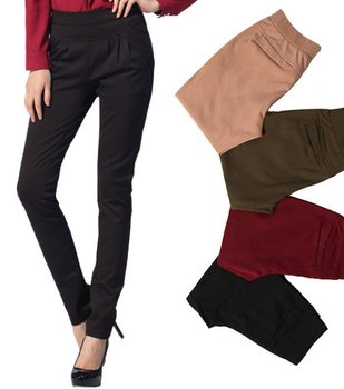 Nice quality fashion casual pants trousers women new style, khaki/black/red/green colors, size S, M, L, XL, XXL, XXXL